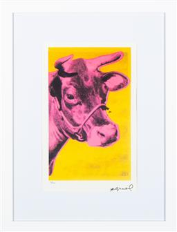Sale 9199J - Lot 65 - Andy Warhol - Cow framed size 76cm x 58cm x 3cm