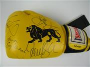 Sale 8450S - Lot 785 - Real Fighters - Lonsdale 12oz. Boxing Glove signed by Paul Gallen, Tod Carney, Billy Dib, Dane Swan, Lauryn Eagle & Candice Falzon