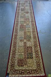 Sale 8580 - Lot 1045 - Persian Kashan Runner (400 x 80cm)