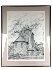 Sale 8607R - Lot 72 - Marentz - Perspective Pencil Drawing (74 x 56cm)