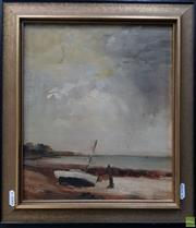Sale 8600 - Lot 2004 - William Gregory Grant (1876 - 1951) - Beachscape, oil on board, 28.5 x 25cm, signed lower left