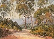 Sale 8657A - Lot 5072 - Aohn Emmett - The Cliff Walk to Echo Point 21.5 x 29.5cm