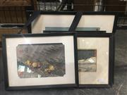 Sale 8751 - Lot 2054 - Group of 5 Japanese Woodblocks, framed and various sizes
