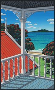 Sale 8867A - Lot 5079 - Tony Ogle (1959 - ) - Coach House Balcony 41.5 x 26.5cm