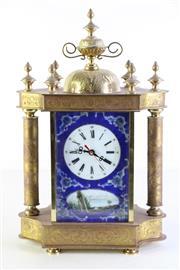 Sale 8989 - Lot 79 - Enamelled Mantle Clock (H: 35cm)