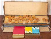 Sale 9058H - Lot 78 - A Game of Mah Jong and a pack of vintage playing cards