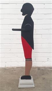 Sale 9071 - Lot 1088 - Timber Waiter Cutout (h:105cm)