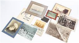 Sale 9130E - Lot 57 - A collection of ephemera including a photographic post card depicting the decapitation scene of pirates, NSW infantry, Anthony Horde...