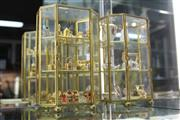 Sale 8322 - Lot 16 - Gilt Metal & Glass Display Cabinet with Contents