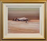 Sale 8415 - Lot 556 - DArcy Doyle (1923 - 2001) - One Tree Plain Pub, NSW 50 x 63cm