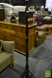 Sale 8472 - Lot 1053 - Two Door, Steel Top Cupboard with a Standard Lamp