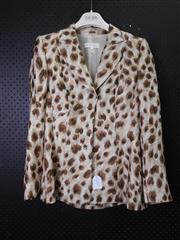 Sale 8514H - Lot 36 - Escada Leopard Spot Jacket - Lined Size UK10