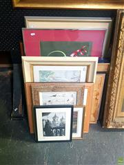 Sale 8640 - Lot 2051 - Group of (13) Assorted Artworks incl: original watercolours, and photographs (framed/various sizes)