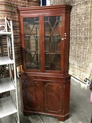 Sale 8822 - Lot 1295 - Corner Display Cabinet with Astrigal Doors
