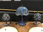 Sale 8851 - Lot 1004 - Collection of Leadlight Shade Table Lamps