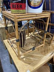 Sale 8876 - Lot 1036 - Split Cane Side Table
