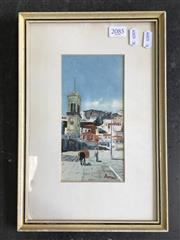 Sale 8964 - Lot 2085 - A Watercolour of a South American Town, 32 x 22cm (frame)