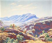 Sale 9021 - Lot 565 - Reg Campbell (1923 - 2008) - Hamersly Range, WA 49 x 59 cm (frame: 68 x 79 x 3 cm)