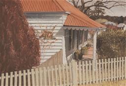 Sale 9125A - Lot 5039 - Greg Hansell - Cottage Garden, Willunga, SA, 1990 55.5 x 74.5 cm (frame: 86 x 105 x 5 cm)
