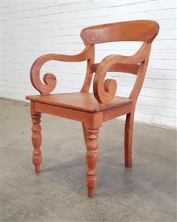 Sale 9146 - Lot 1074 - Timber armchair (h90 x w55 x d47cm)
