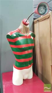 Sale 8404 - Lot 1057 - Rabbitohs Painted Mannequin Side Lamp (needs rewiring)