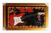 Sale 8425 - Lot 2 - AC/DC Signed Fender Squire Guitar