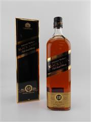 Sale 8454W - Lot 89 - 1x Johnnie Walker 12YO Black Label Blended Scotch Whisky - 1000ml in box