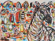 Sale 8968A - Lot 5039 - Yosi Messiah (1964 - ) - Playful Harbour 91.5 x 122 cm (total: 91.5 x 122 x 4 cm)