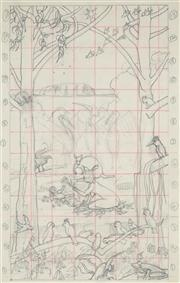Sale 8870 - Lot 2003 - Duncan Goldfinch (1888 - 1960) - Australian Nativity (Study) 34 x 22 cm