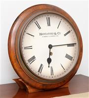 Sale 8902H - Lot 49 - A Hannaford & Co. timber framed clock, 34cm diameter