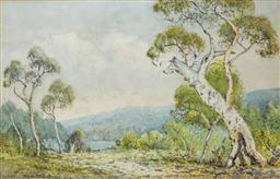 Sale 8972A - Lot 5051 - Lionel David - The Blue Mountains, c1910 - 1920s 28 x 42 cm
