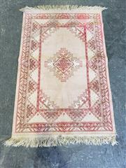 Sale 9034 - Lot 1097 - Belgium Made Red & Cream Tone Prayer Rug ( 110 x 70cm)