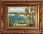 Sale 9058H - Lot 74 - G Bray (?) View of Balmoral, oil on canvas, signed lower right, in a gilt frame. 43x57cm
