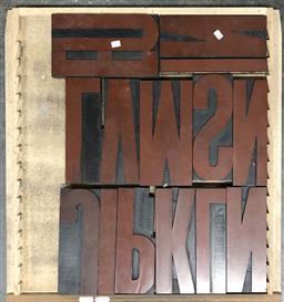 Sale 9117 - Lot 1079 - Tray of Printers Blocks