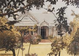 Sale 9125A - Lot 5036 - Greg Hansell - Through the Garden, 1988 52.5 x 72.5 cm (frame: 77 x 95 x 3 cm)