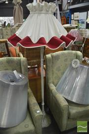 Sale 8289 - Lot 1079 - Standard Lamp with a Fabric Shade