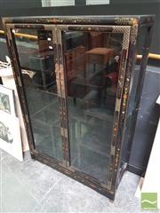 Sale 8455 - Lot 1003 - Oriental Ebonised Display Cabinet