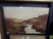 Sale 8483 - Lot 2049 - G. Wardrope, Rapids, Oil, Signed, 30x45cm