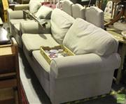 Sale 8507 - Lot 1051 - Modern Grey Upholstered Three Seater & Two Seater Sofas