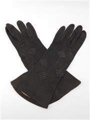 Sale 8514H - Lot 34 - Vintage French Ladies Black Leather Gloves