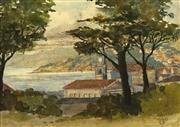 Sale 8752 - Lot 2017 - Lily Scott (1895 - 1971) - Oriental Bay, Wellington 1933 16 x 23cm