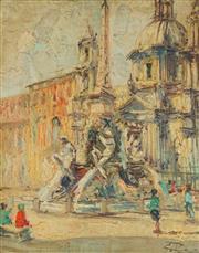 Sale 8764A - Lot 5090 - Artist Unknown - Parisian Scene 47.5 x 37.5cm