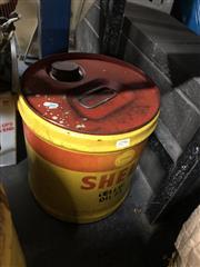 Sale 8805 - Lot 1049 - Shell Gallon Oil Drum (no base)