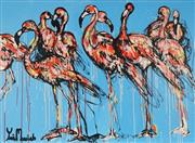 Sale 8826A - Lot 5010 - Yosi Messiah (1964 - ) - Blue Flamingos 91.5 x 122cm