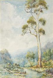 Sale 8972A - Lot 5050 - Lionel David - Blue Mountains, c1910 - 1920s 46 x 32 cm