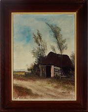Sale 8995 - Lot 2085 - Emil Jansen (1936 - ) - Old Barn 38 x 28 cm (frame: 50 x 40 x 4 cm)