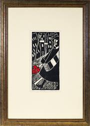 Sale 9021 - Lot 562 - Deborah Klien (1951 - ) - Threnody, 1991 31 x 14.5 cm (frame: 69 x 49 x 2 cm)
