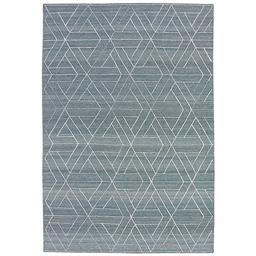 Sale 9090C - Lot 30 - Indian Lattice Flatweave, 160x230, Handspun Wool & Bamboo Silk