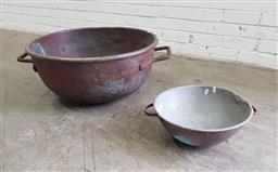Sale 9134 - Lot 1047A - Vintage Copper mixing bowls, ex. Darrell Lee (h:29 x d:66cm)