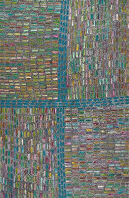 Sale 9252A - Lot 5014 - REBECCA JONES PITJARA Bush Yam acrylic on canvas 201 x 131 cm (stretched and ready to hang) signed verso; certificate of authenticit...